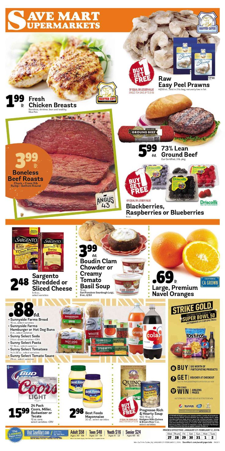 Save Mart Weekly ad January 27 - February 2, 2016 - http://www.olcatalog.com/save-mart/save-mart-weekly-ad.html