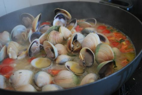 New Zealand Clams #spaghetti vongole #Jamie oliver #seafood