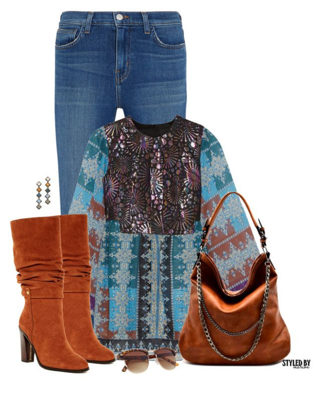 """Jeans & Boots For Fall"" by marion-fashionista-diva-miller ❤ liked on Polyvore featuring L'Agence, Anna Sui, Donald J Pliner, DANNIJO, Boots, jeans, fallfashion and fallstyle"