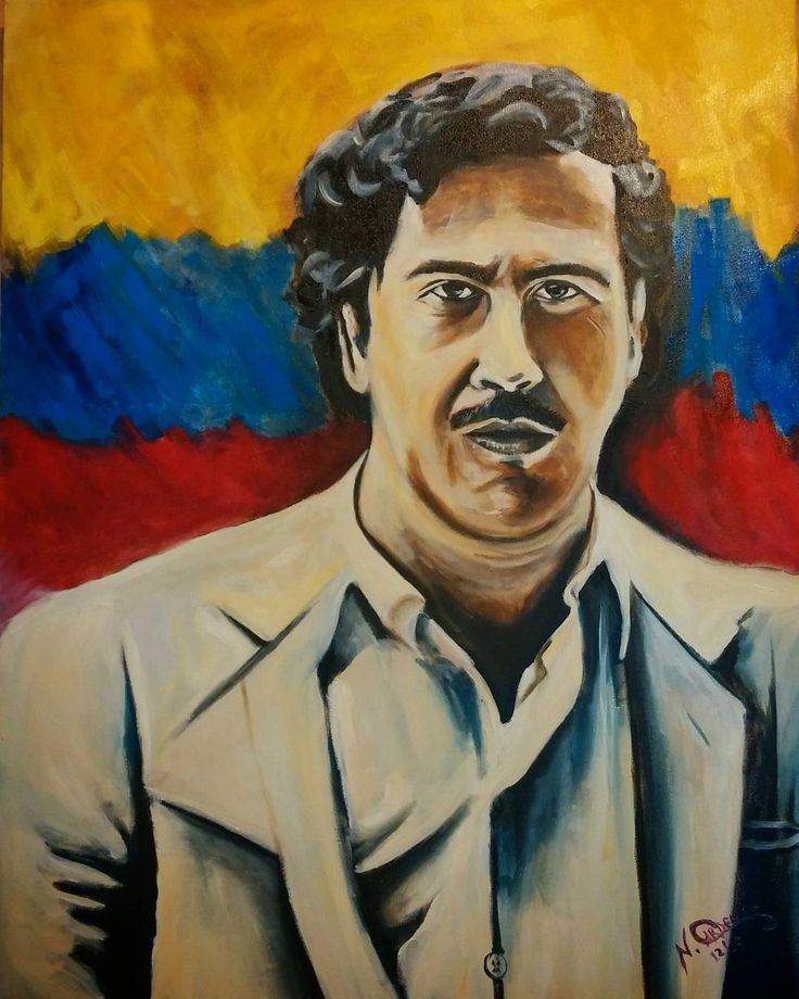 Signed and completed Pablo Escobar #oiloncanvas #oilpainting #pabloescobar…