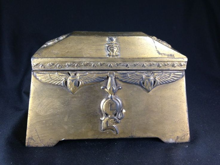 Antique Benedict Assyrian Gold C 1900 Egyptian Jewelry Box