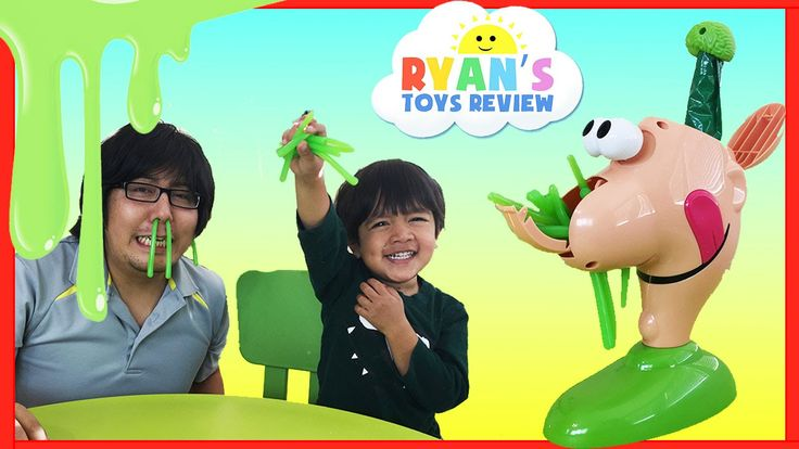 nice GOOEY LOUIE Family Fun Yucky Boogers Slime Game Surprise Toys Ryan ToysReview