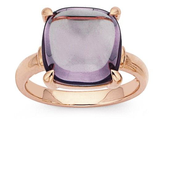 9ct, Rose Gold Amethyst Cocktail Ring