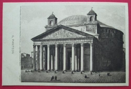 CPA-ROMA-illustrateur-panteon-acquarello-LIGER-rome-italia-italie-cartolina