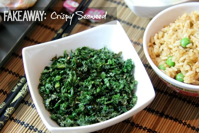 Chinese style crispy seaweed that tastes just like the real deal. Only 2 syns on the Slimming World plan :)