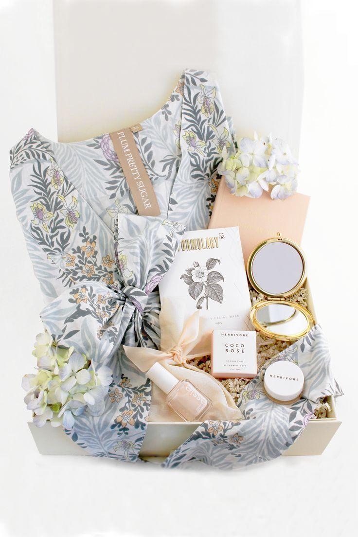 A sweet gift basket wedding day