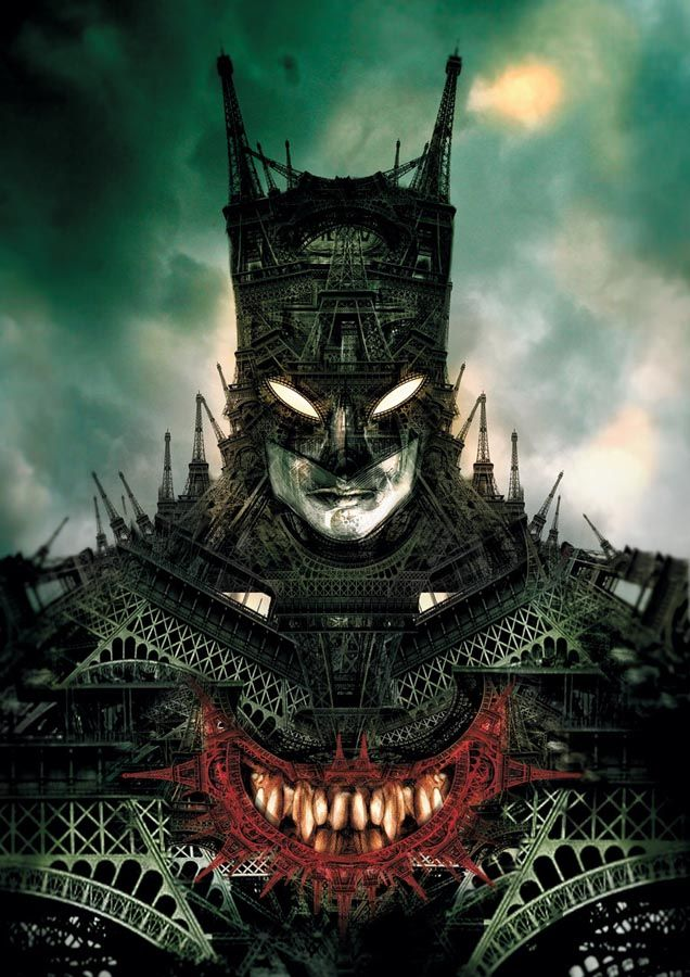 Whoaa... The Joker inside Batman made with Eiffel Towers!