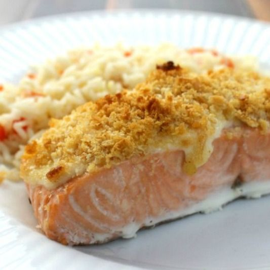 Used this parmesan crusted salmon recipe as a star…