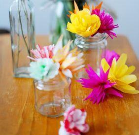 Un bouquet de fleurs en papier pour la Saint-Valentin!