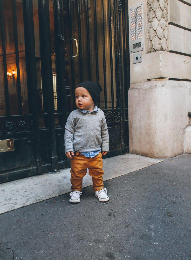 Bike Ride in Paris Atticus – SWEATER: Atelier/Child // SHIRT: Gap // PANTS: Zara // SHOES: Converse