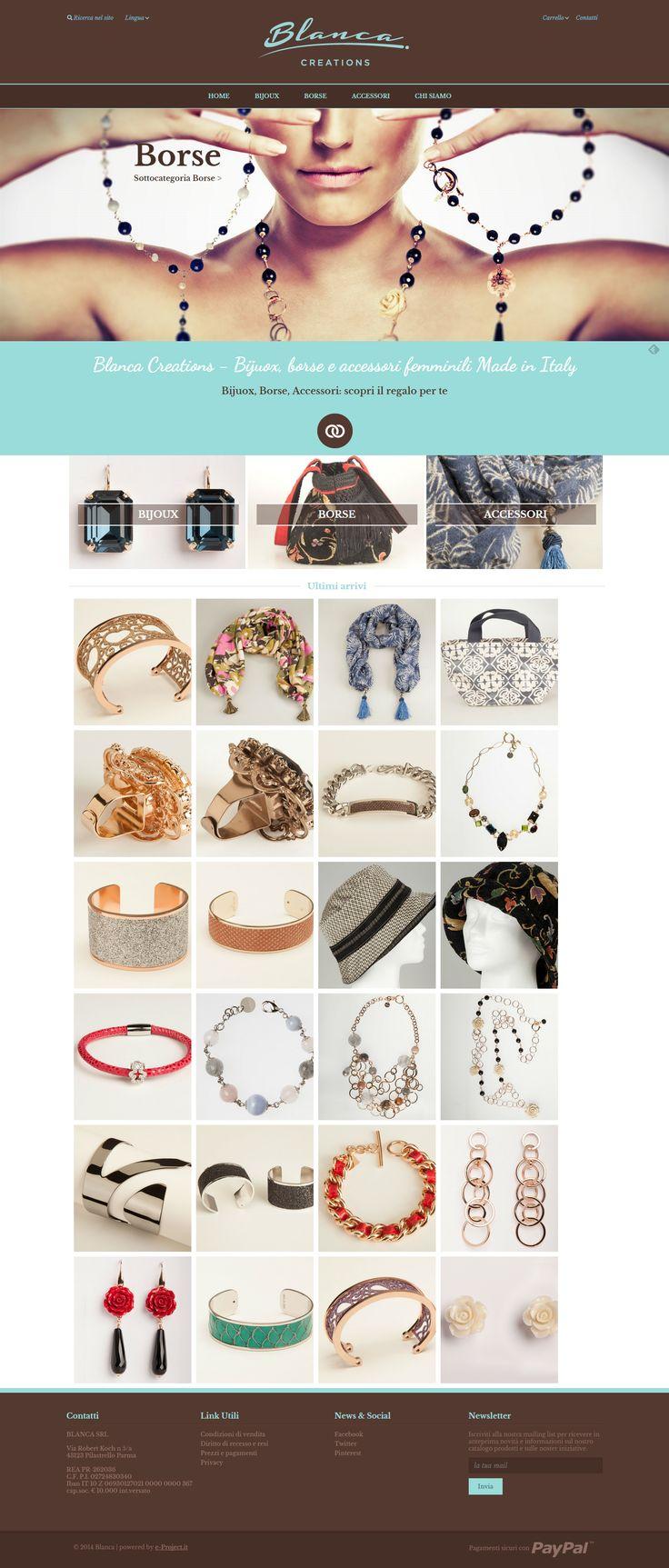 Il nuovo eCommerce di gioielli e accessori handmade: Blanca Creations!