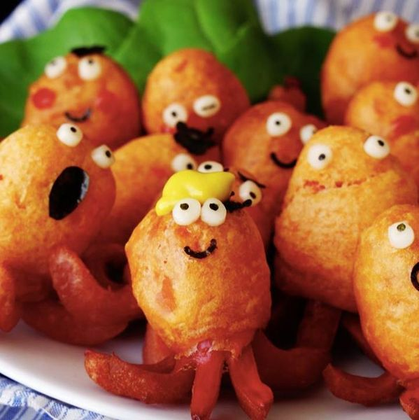 Mini Octopus Corn Dogs