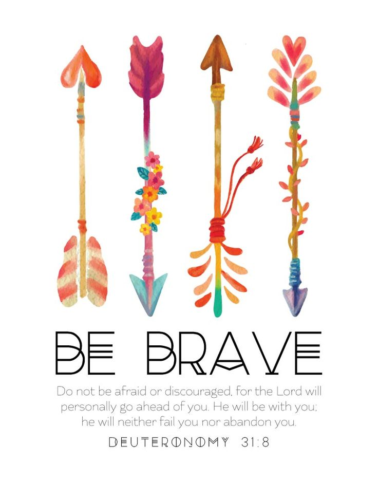 Be Brave - Deuteronomy 31:8 - Nursery Print