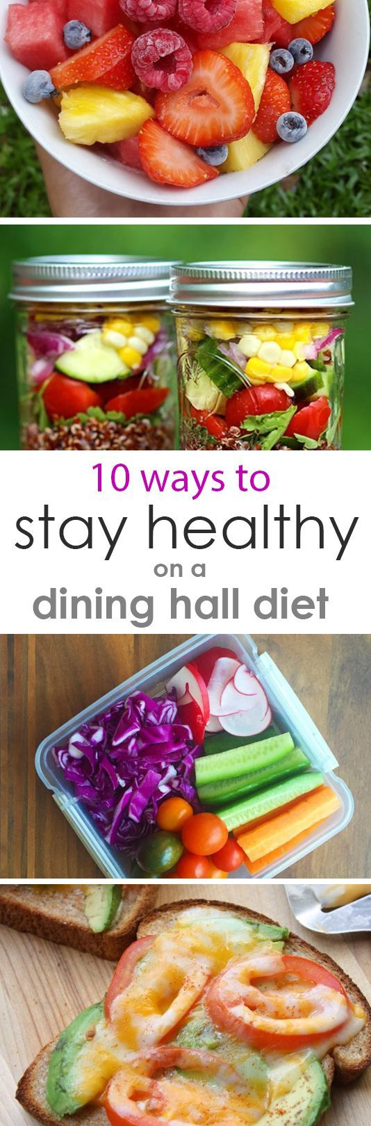 10 Ways to Stay Healthy on a College Dining Hall Diet