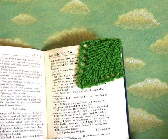 Corner Bookmark Instant Download Knitting Patterns 4 Leaf Designs