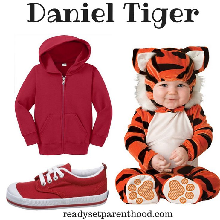Easy DIY Daniel Tiger Halloween Costume #Halloween