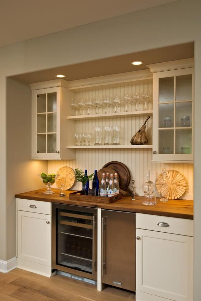 Add Beadboard Backsplash To Wooden Countertops This Would Look