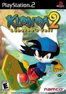 No, this is not exactly one of 2001's flagship games.  I just wanted it here anyway!  Klonoa 2 is a 2D platformer (yeah, 2D platformer on the PS2, no wonder it's so obscure) starring the titular creature - a cat/rabbit cross and attempted successor to Pac-Man in being Namco's new mascot - and Klonoa's twist is that he can grab enemies and use them to jump higher.  Also the game sports cel-shaded graphics and is the sequel to a PlayStation game.