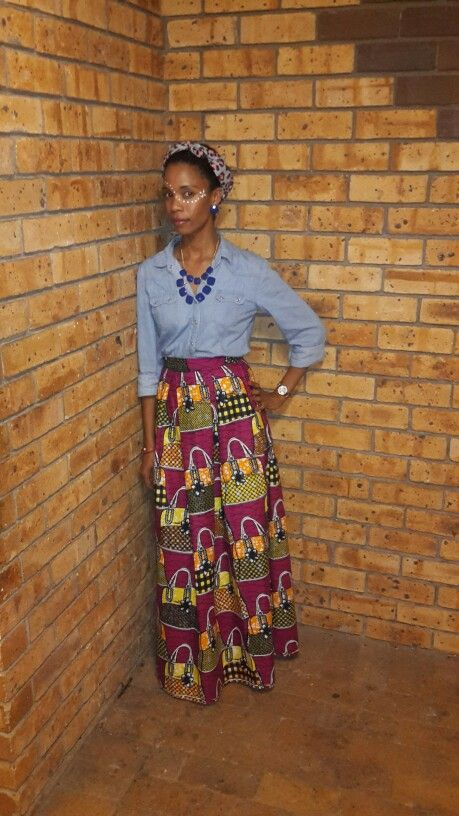 Wearing my own creation #AfricanPrints