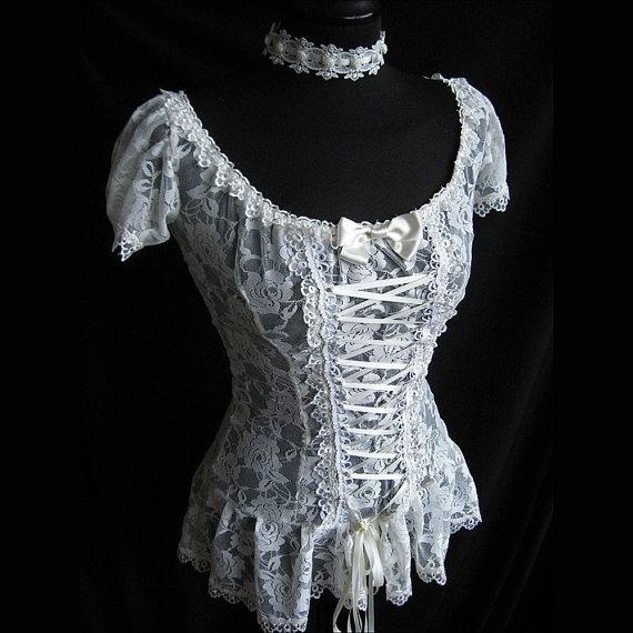 I found 'Victorian Corset Blouse' on Wish, check it out!