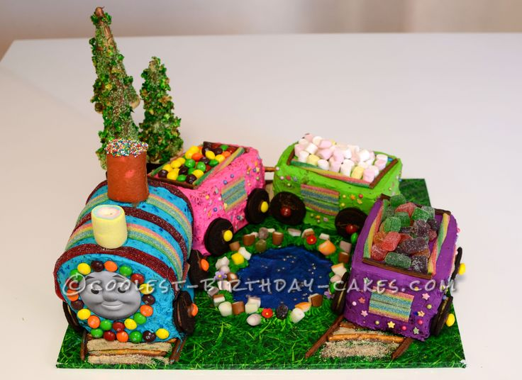Coolest Thomas Train Birthday Cake... This website is the Pinterest of birthday cake ideas