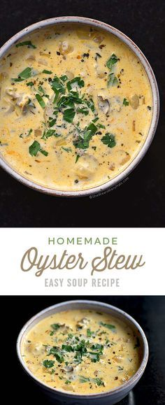 Oyster Stew Recipe Grab a spoon and some oyster crackers and get ready to enjoy this Oyster Stew. | shewearsmanyhats.com