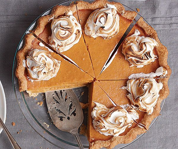 Sweet Potato Pie with Marshmallow Fluff Recipe-Move over, pumpkin. This orange root makes great fall desserts, too.