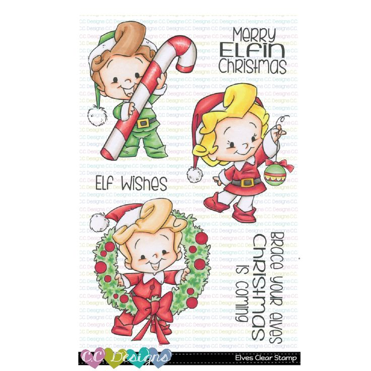 Elves Clear Stamp Set Clear stamps, Stamp, Elf drawings