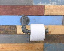 Portarotolo industriale, Industrial Home Decor, uomo delle caverne, Toilet Paper Holder, Steampunk Decor, bagno industriale, decorazione del ristorante