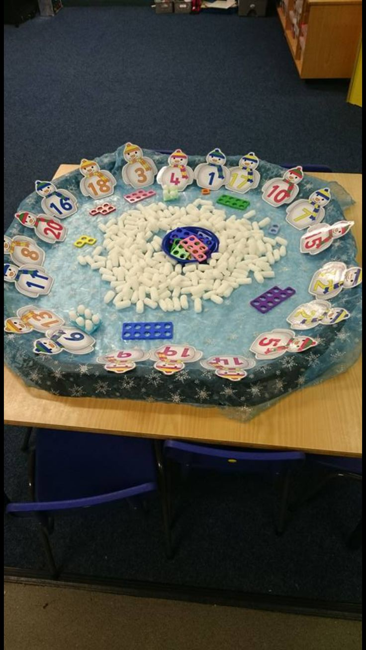 Numicon Winter Display.