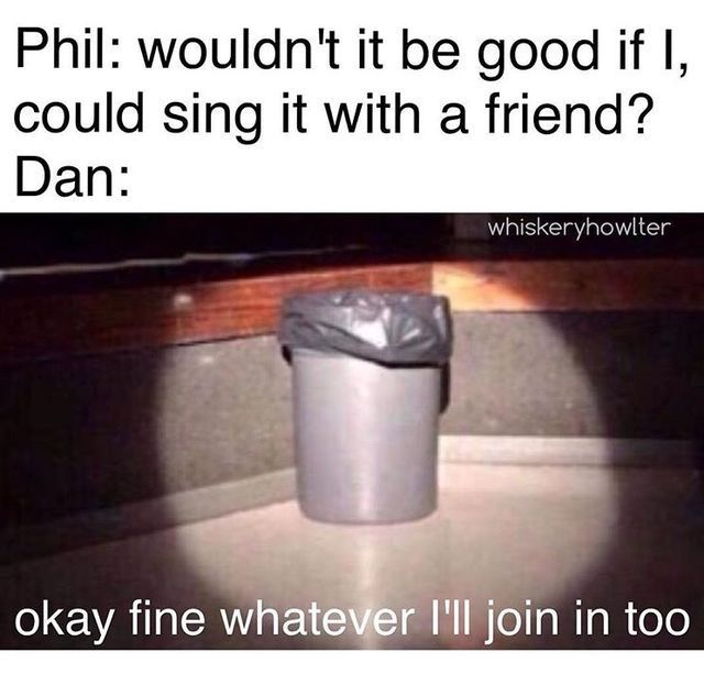 Dan and Phil Trash memes