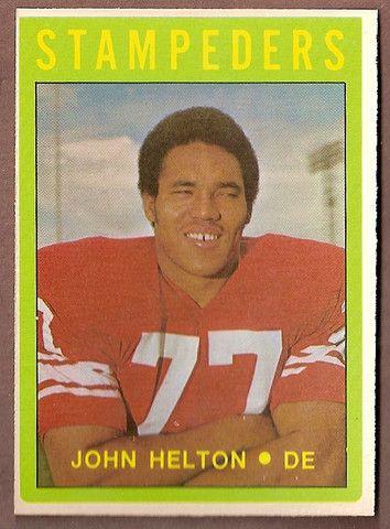 John Helton CFL card 1972 O-Pee-Chee #57 Calgary Stampeders Arizona State Sun Devils Hall of Fame