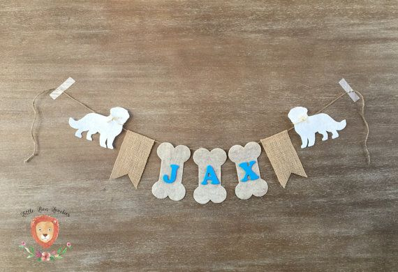 Personalized Dog Name banner Dog Birthday by LittleLionLoveliesCo
