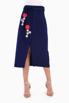Navy Origami Skirt
