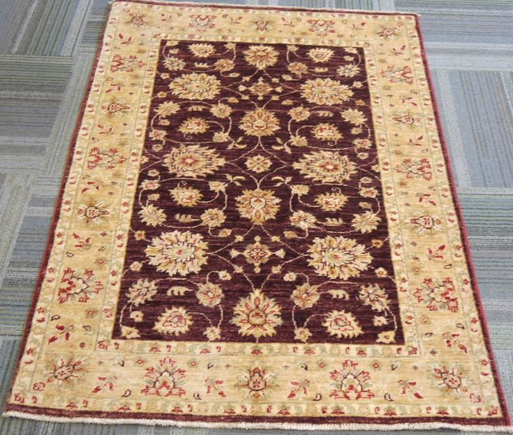 "NR: 20639 Location: Chobi Ziegler  Size: 4'10"" x 3'5"" Country: Afghanistan Pile: Wool Base: Cotton"