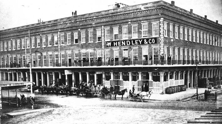 The 150-year-old Hendley row in Galveston's historic Strand district FINALLY has a benefactor. A $1.9 million restoration project commenced recently, thanks to investment by one of Galveston's most civic-minded families, the Mitchells. The Hendley buildings played a significant role in the Civil War: the first Confederate canon shot in the 1863 Battle of Galveston was fired from the roof. The buildings are the oldest extant commercial structures on the island. (Interior and exterior photos.)