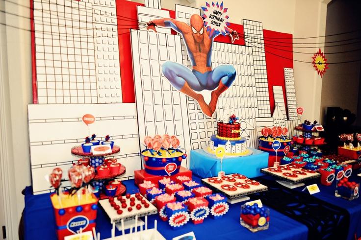 Spiderman birthday party idea