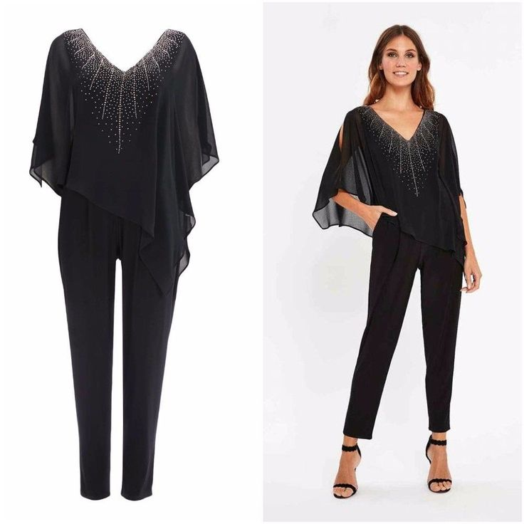 NEW WALLIS BLACK EMBELLISHED OVERLAY JUMPSUIT 8 to 20 RRP £55