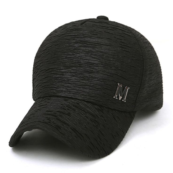 Women Baseball Caps Summer Hip Hop Style Wrinkle Design Solid Casual Hats