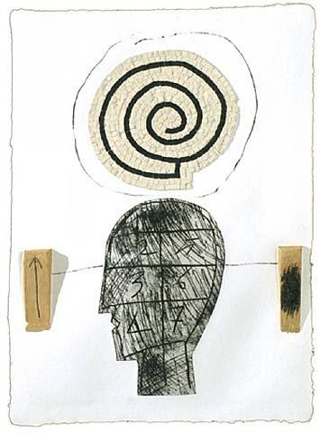 Mimmo Paladino (1948-) – California Suite No. 7 (2004) Impression sur papier fait main.