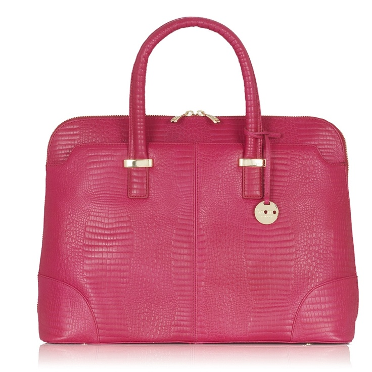 """Rubi 15"""" Lizard Teaberry Leather - they sell the cutest laptop bags!!"""