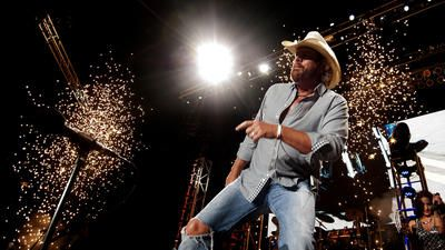 Toby Keith at The Great Allentown Fair on Saturday