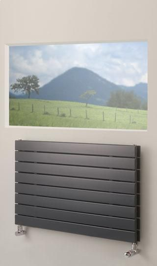 Brolin Radiators Malmo Horizontal Single Flat Panel Radiator Cast Iron  Radiators   Period Radiators, Traditional