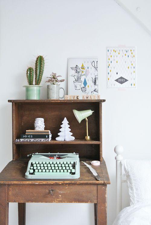 tiffany blue typewriter