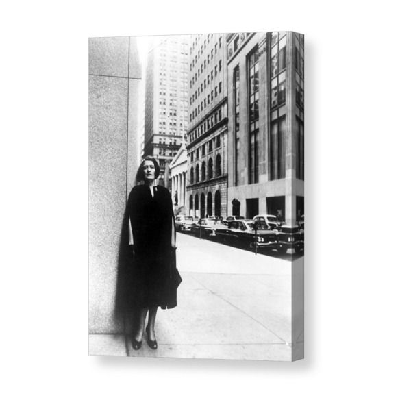Ayn Rand Author Of Capitalism The Canvas Print / Canvas Art by Everett