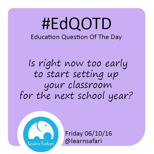 Do you start setting up your classroom as soon as the last student leaves the School? Or do you wait until a few days before the new school year begins?  Could it be a #WIP during you Summer vacation with many trips to @target (we know of a few fans hint: @targetteachers) let us know how you work your magic!  #EdQOTD #QOTD #targetrun #Teachersfollowteachers #teachersofinstagram #classroom #School #Summer #appdesign #kidsapp #learnspanish