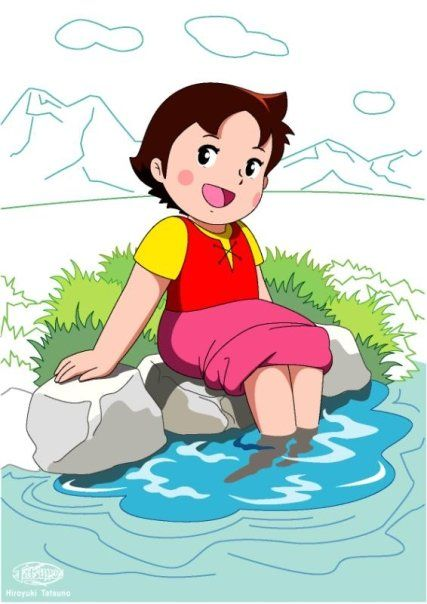 heidi playing in water http://heidicartoon.blogspot.in