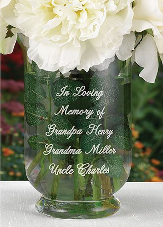 Sweet idea! Remember past loved ones without making the wedding somber