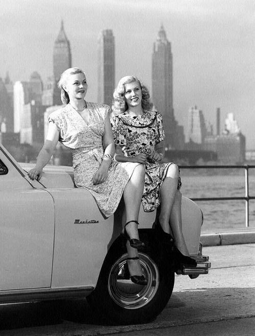 Beautiful blondes, 1948. #vintage #1940s #women