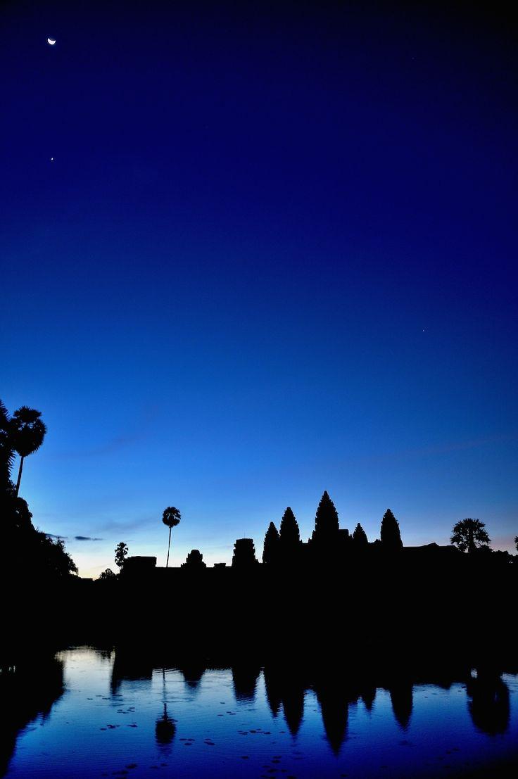 Cielo blu alba Cambogia landscape